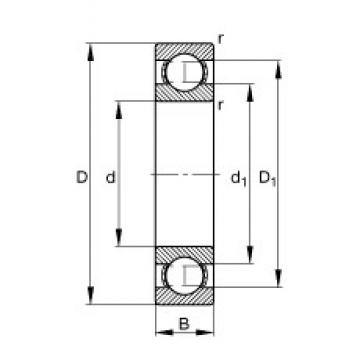 17 mm x 40 mm x 12 mm  FAG S6203 deep groove ball bearings