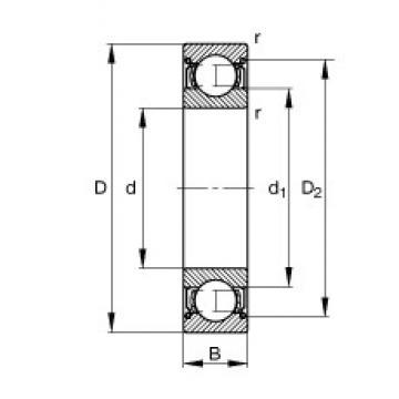 17 mm x 40 mm x 12 mm  FAG 6203-2Z deep groove ball bearings