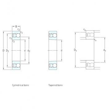 110 mm x 240 mm x 50 mm  SKF 1322KM self aligning ball bearings