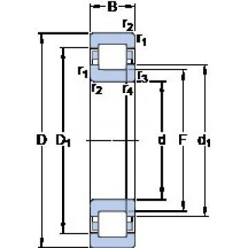 60 mm x 110 mm x 22 mm  SKF NUP 212 ECM thrust ball bearings