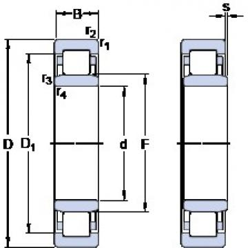 60 mm x 110 mm x 22 mm  SKF NU 212 ECM/C3VL0241 cylindrical roller bearings