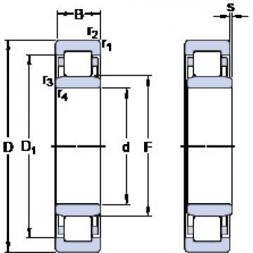 60 mm x 110 mm x 22 mm  SKF NU 212 ECP thrust ball bearings