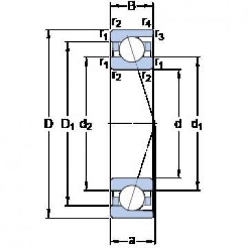 60 mm x 110 mm x 22 mm  SKF 7212 CD/P4A angular contact ball bearings