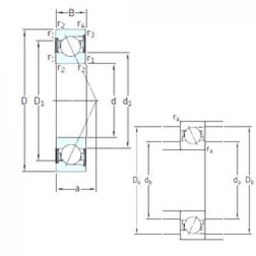 17 mm x 40 mm x 12 mm  SNFA E 217 /S/NS 7CE3 angular contact ball bearings