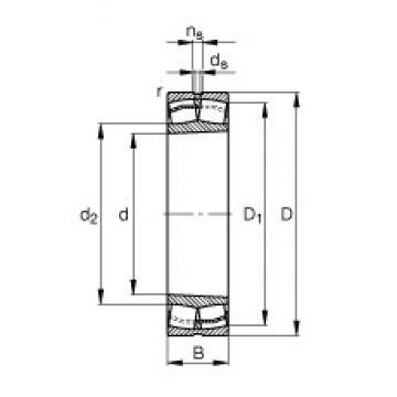 180 mm x 280 mm x 74 mm  FAG 23036-E1-K-TVPB spherical roller bearings