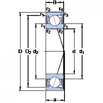 60 mm x 110 mm x 22 mm  SKF S7212 CD/P4A angular contact ball bearings
